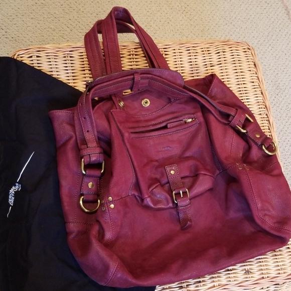 Jerome Dreyfuss Handbags - Jerome Dreyfus large Billy maroon wine color bag
